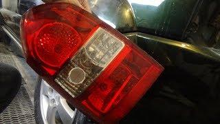 Снятие-установка и замена всех ламп в заднем фонаре, Hyundai Tucson 1.
