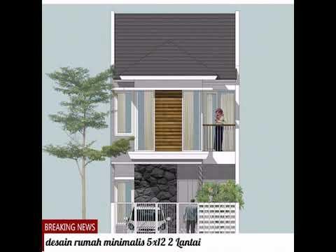 Denah Rumah Modern Minimalis 5x12 2 Lantai Youtube