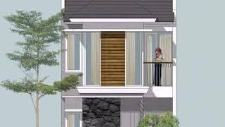 Gambar Rumah Minimalis 2 Lantai Ukuran 5x12