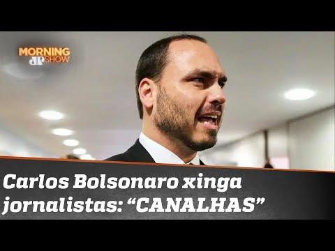 Carlos Bolsonaro fala em distorção e chama jornalistas de CANALHAS