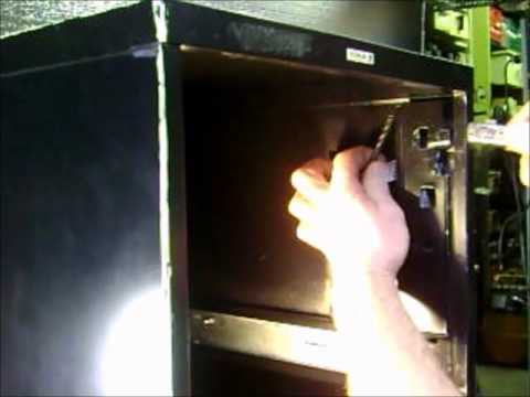 push in or plunger lock for filing cabinet by Cole  YouTube