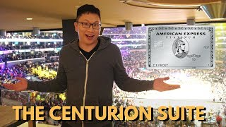 amex centurion suite staples center