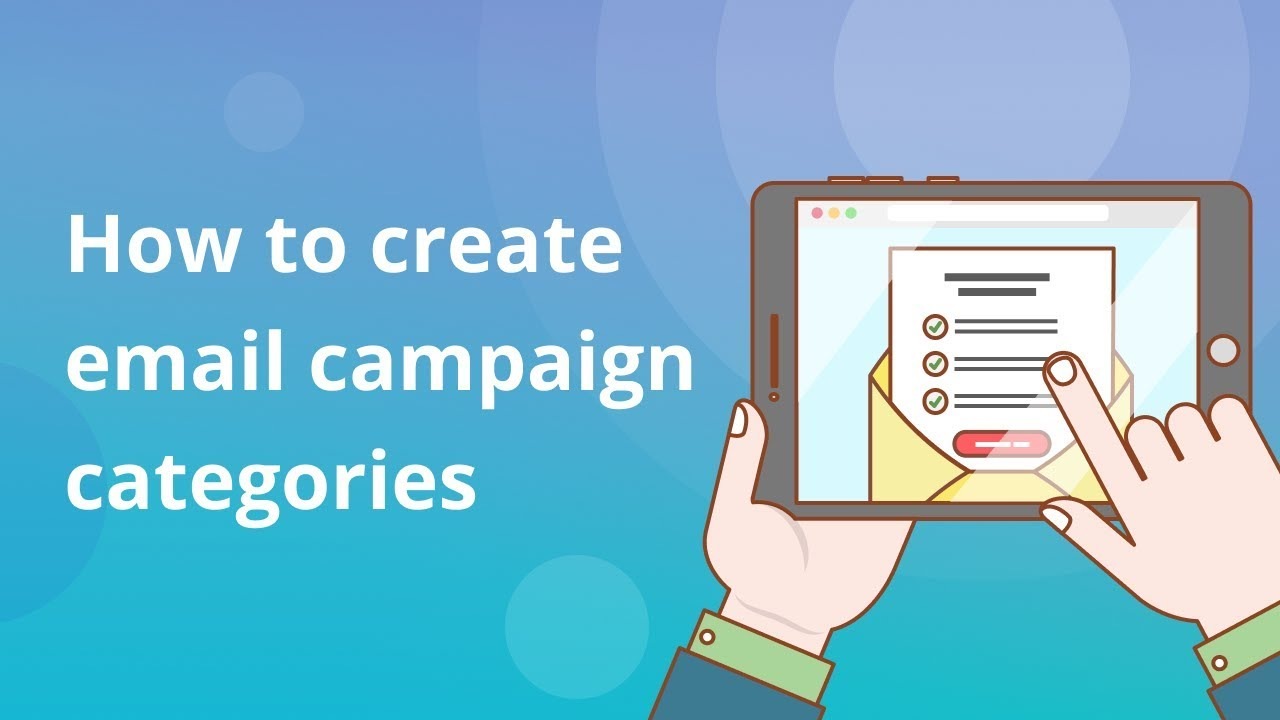 How to create email campaign categories