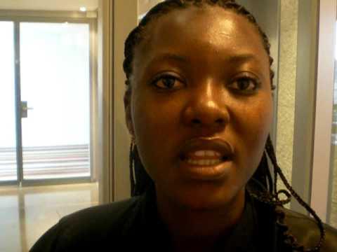 Christelle Paré, journaliste sportif à la Radio télévision du Burkina