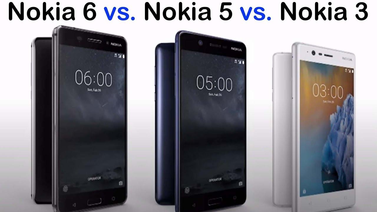 nokia 6 vs nokia 5 vs nokia 3   feature comparison not