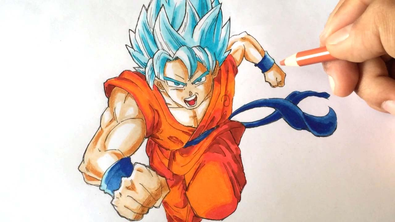 how to draw son goku full body