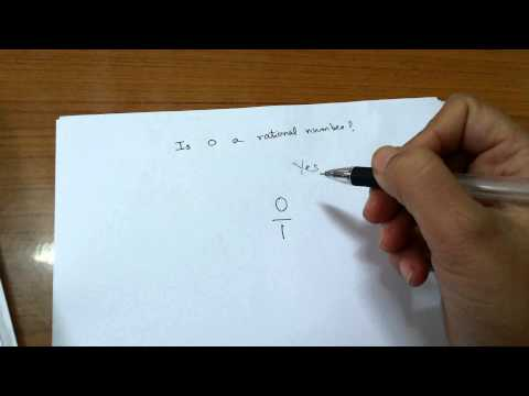 Is zero a rational number?