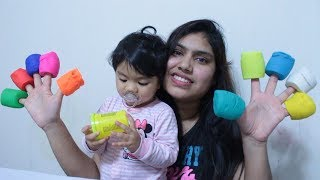 Play Doh & Finger Family Song with Radia & Mummy