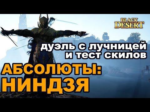 Black Desert (MMORPG - ИГРЫ) ⚡Абсолюты на Ниндзю + Рабама⚡ Тестим скилы и дуэль с лучницей в БДО