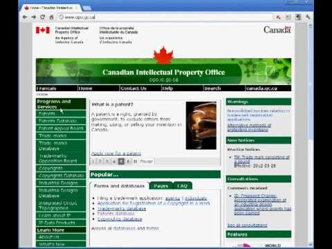 Toronto Lawyer Elias Borges explains how to use CIPO's patent search tool