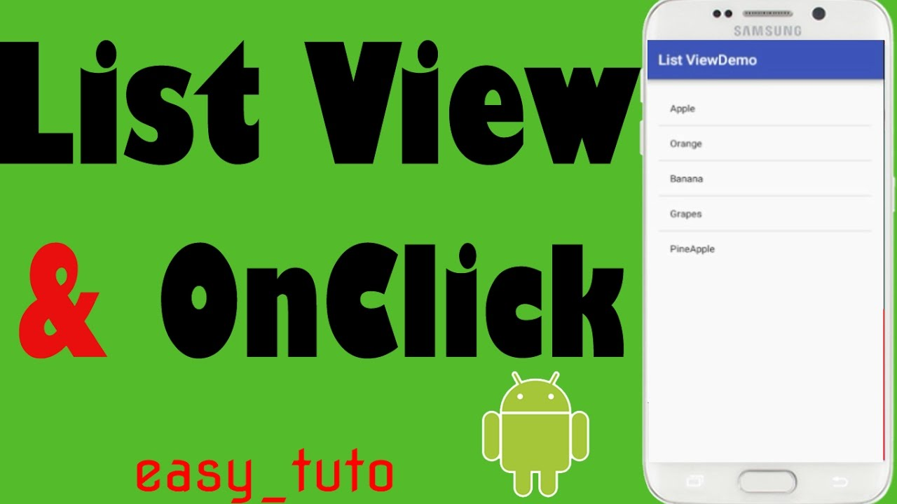 ListView and OnClick Items| Android Studio Tutorial (Beginners) HD | All  About Android