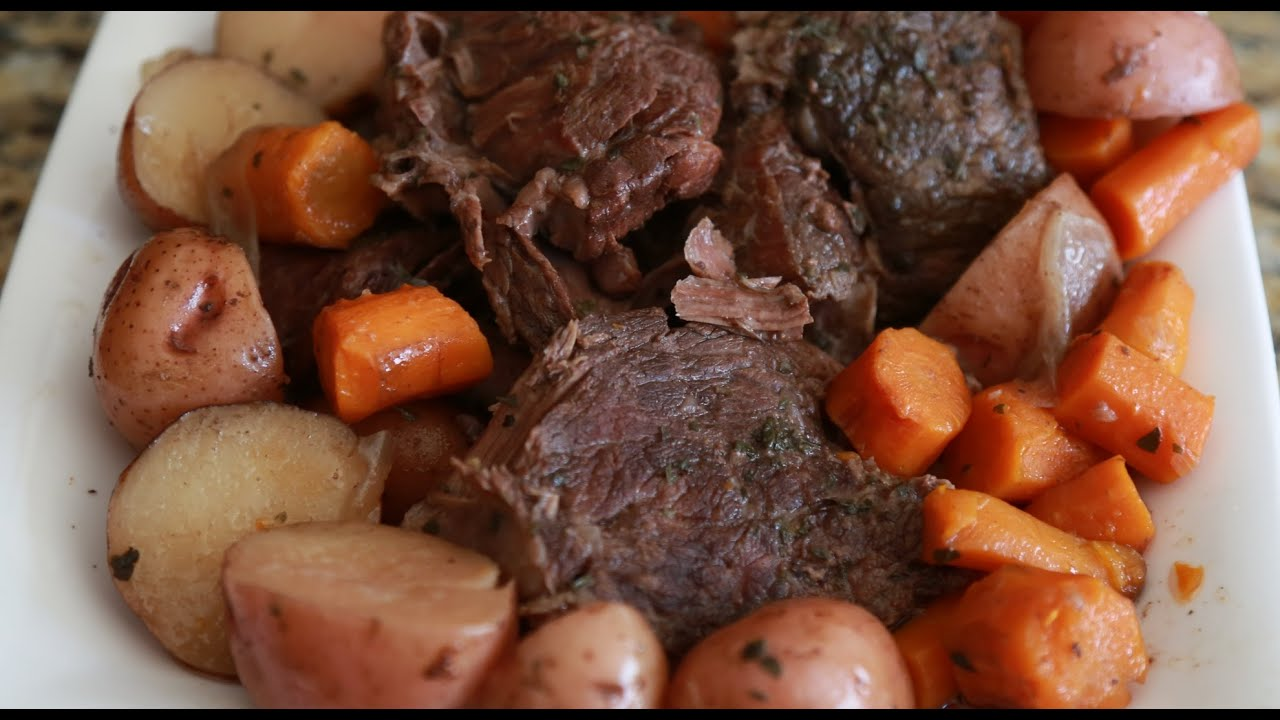 Savory slow cooker red wine pot roast youtube forumfinder