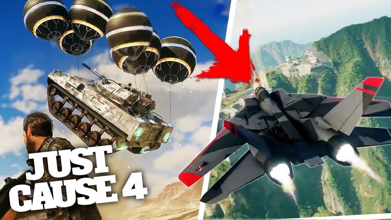 JUST CAUSE 4 BEST JET & FLYING TANKS + MORE GAMEPLAY! From ...
