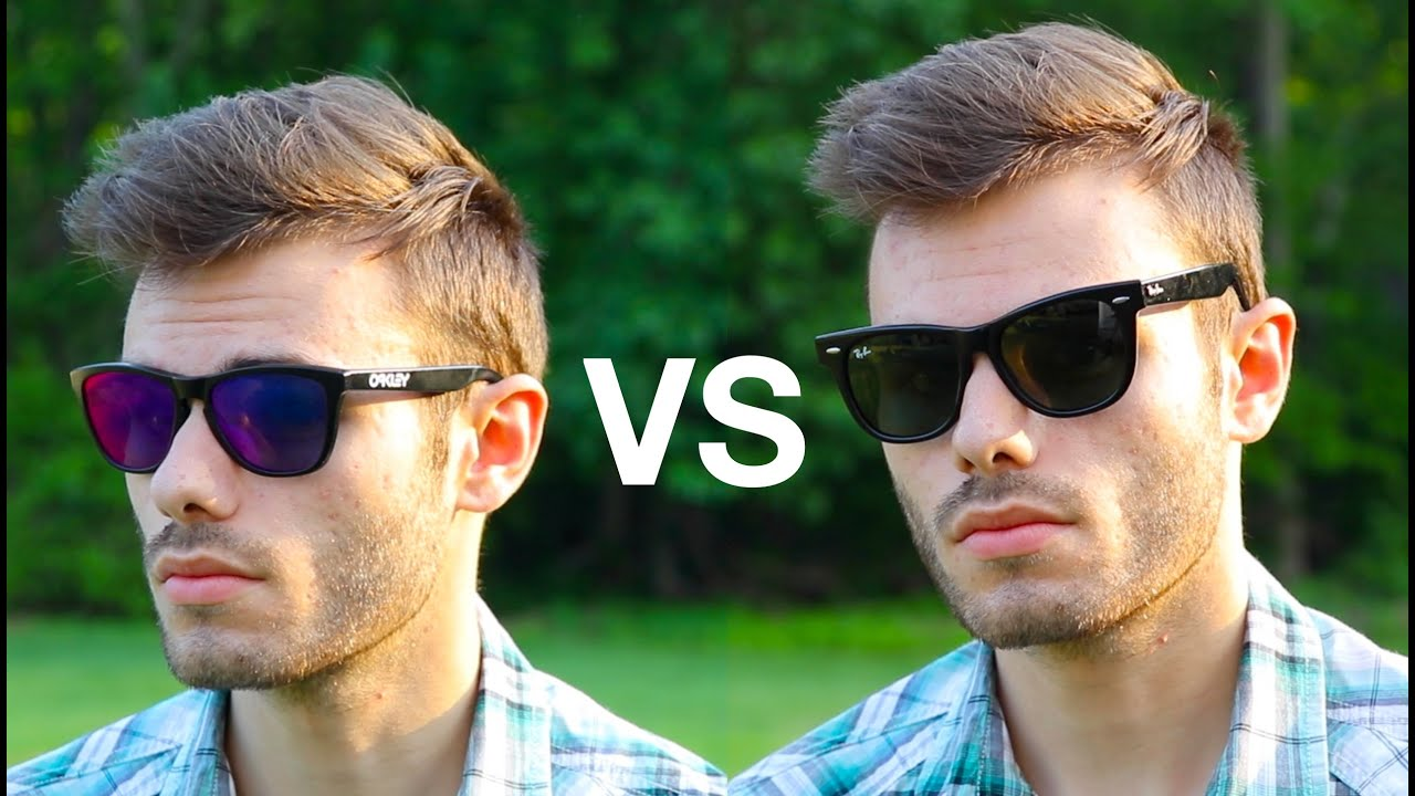 f048d81efb5 Ray-Ban Wayfarer vs Oakley Frogskins - YouTube