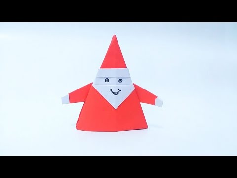 How To Make Origami Santa Claus Youtube