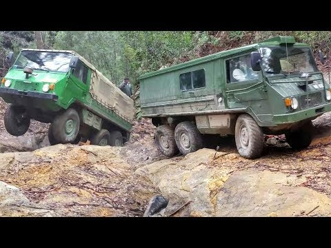 6x6 - 4x4 @ Mt Airly Part 1 - Featuring Pinzgauer 6wd & Perentie 4wd