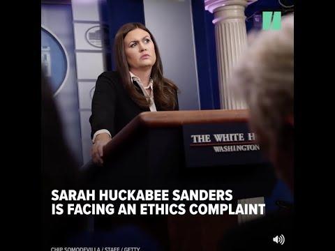Sarah Huckabee Sanders hit with serious ethics complaint