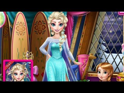 Эльза Frozen Игры—Анна Дизайнер платья Эльзы—Онлайн Видео Игры Для Детей Мультфильм 2015