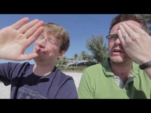 The Naughty Professor: Hank and John at the Beach  REUNION!