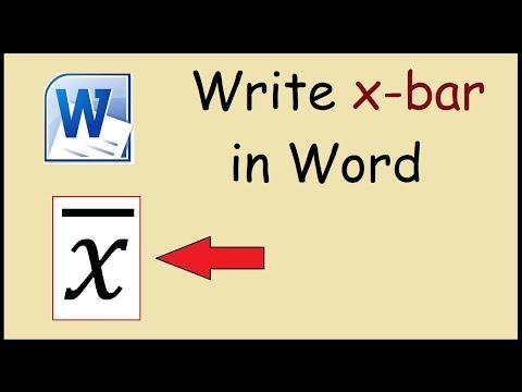 how to make x bar symbol on mac