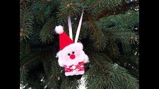 Новогодние Игрушки. Украшение  Санта-Клаус на Елку Своими Руками.//DIY Happy New Year.
