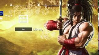 """Samurai Shodown """"Newcomers"""" Dynamic Free PS4 Theme [JAPAN]"""
