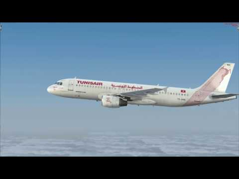 vol de Paris à Djerba en Airbus A320 TunisAir