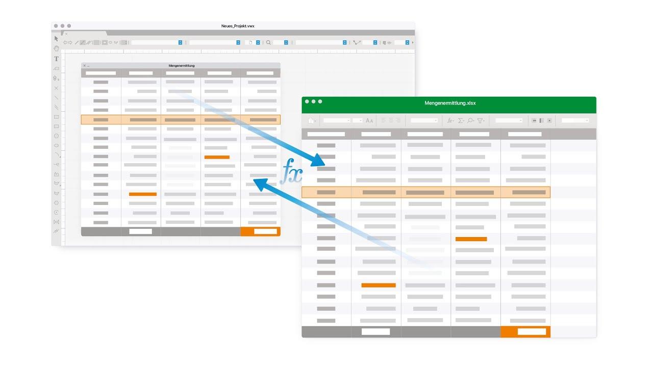 Excel Import / Export I Vectorworks 20