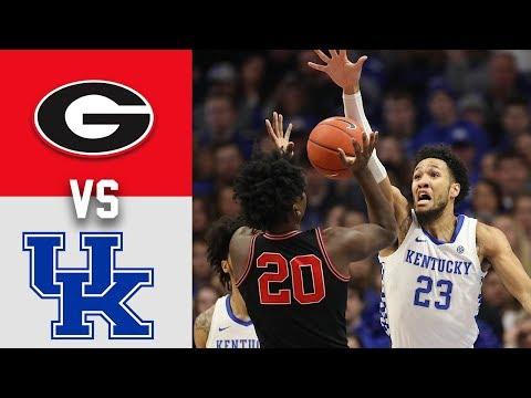 Georgia Vs #15 Kentucky Highlights 2020 College Basketball Highlights