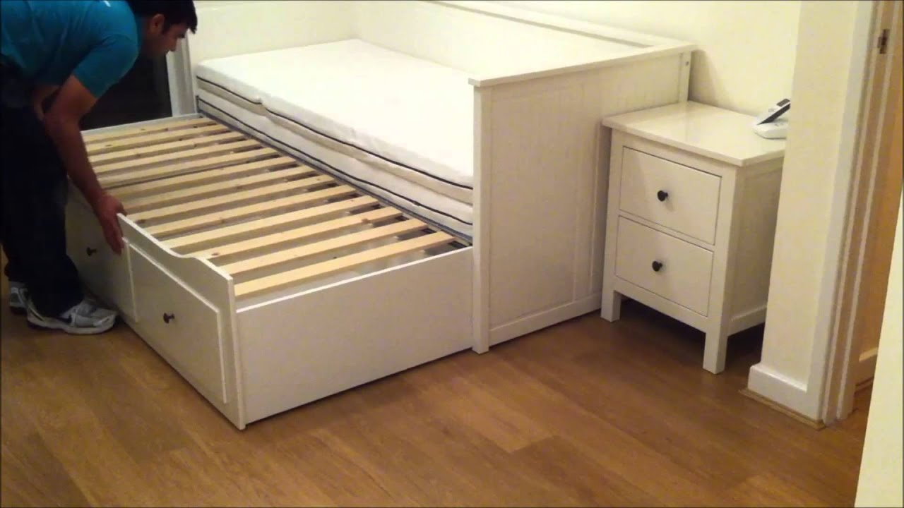 Elegant IKEA Hemnes Day bed Trundle Guest Bed Stolmen Storage Design Before u After YouTube