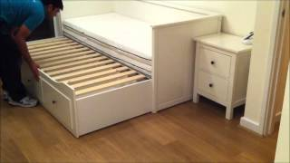 IKEA Hemnes Day-bed Trundle Guest Bed, Stolmen Storage Design - Before & After.