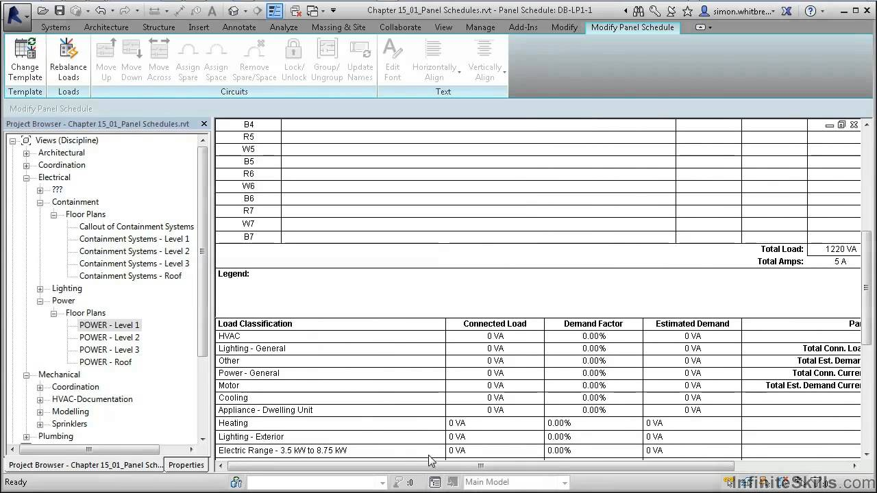 revit mep 2014 tutorial creating panel schedules youtube