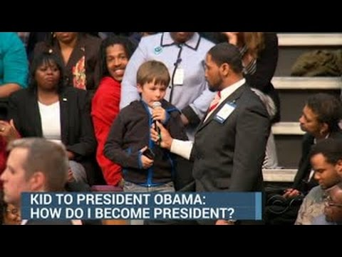 Kid Asks Obama How to Become President