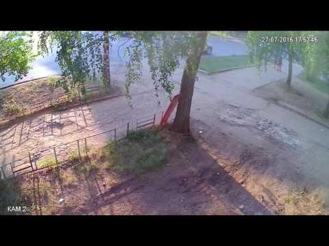 дтп в вятских полянах 27.07.2016 камера 3