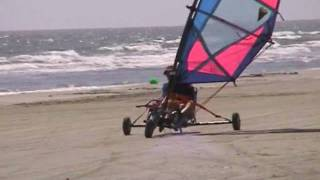 Land Sailing at Surfside Beach 2