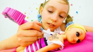 Арт-студия для куклы Барби - Видео про игрушки