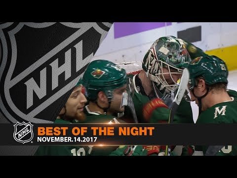 Dubnyk's third consecutive shutout highlights action-packed night