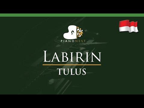 TULUS - Labirin (Indonesian Song) - LOWER Key (Piano Karaoke / Sing Along)