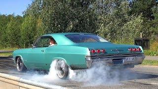 TIRE SLAYING Chevrolet Impala SS w/ LSX V8 - Burnouts and Loud Sounds!!