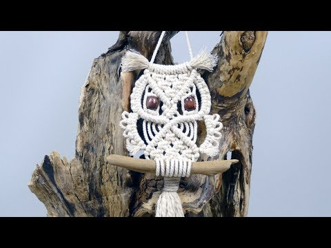Macrame Owl Wall Hanging Tutorial For Beginners & Beyond