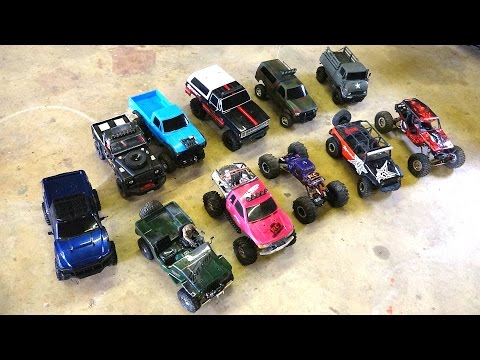 RC ADVENTURES - 11 Crawlers: Comparison G-Made, Axial, RC4WD, Tamiya & Vaterra