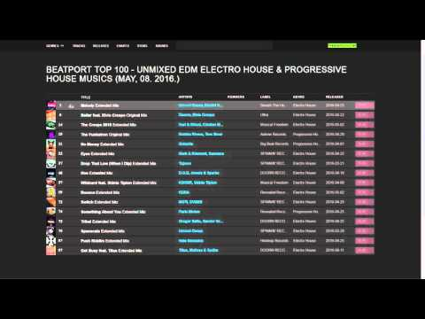 Beatport Top 100 - Unmixed EDM Electro House & Progressive House Musics (May, 08. 2016.) Download