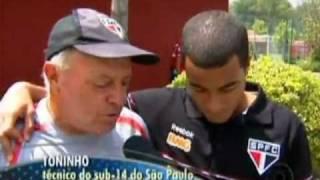 Lucas visita o CT de Cotia, onde começou a jogar - Esporte Espetacular - 27/02/2011