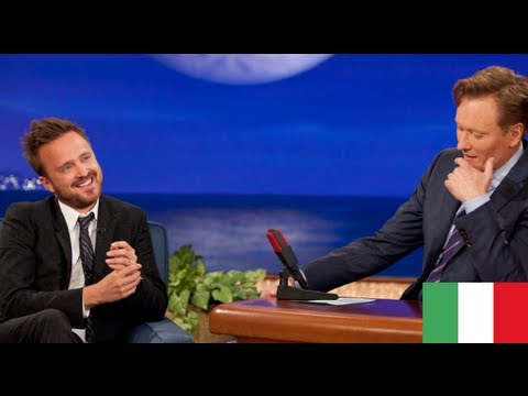 [SUB itA] - Aaron Paul & Conan O' Brien