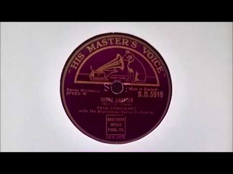 PAUL FENOULHET - SHORT SNORTER (HMV B.D.5919)