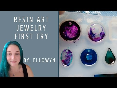 Resin Art Jewerly - First Time