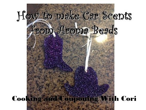 How to Make Aroma Bead car scent air fresheners