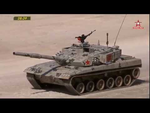 Tank Biathlon Russia T-72B3M Vs China Type96B  B