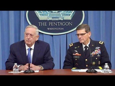 Sec. Mattis Press briefing from the Pentagon. April 11, 2017. Syria.
