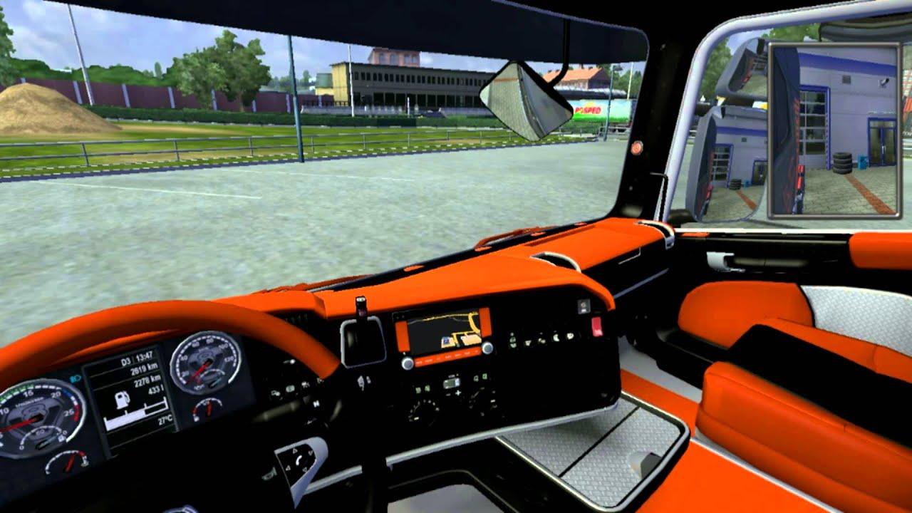 euro truck simulator 2 test mod bruitage v8 interieur